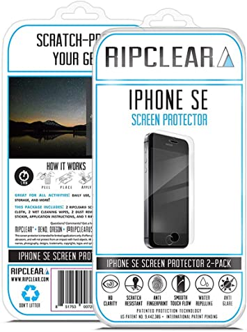 Ripclear iPhone SE Smartphone Screen Protector Kit: Amazon.es ...