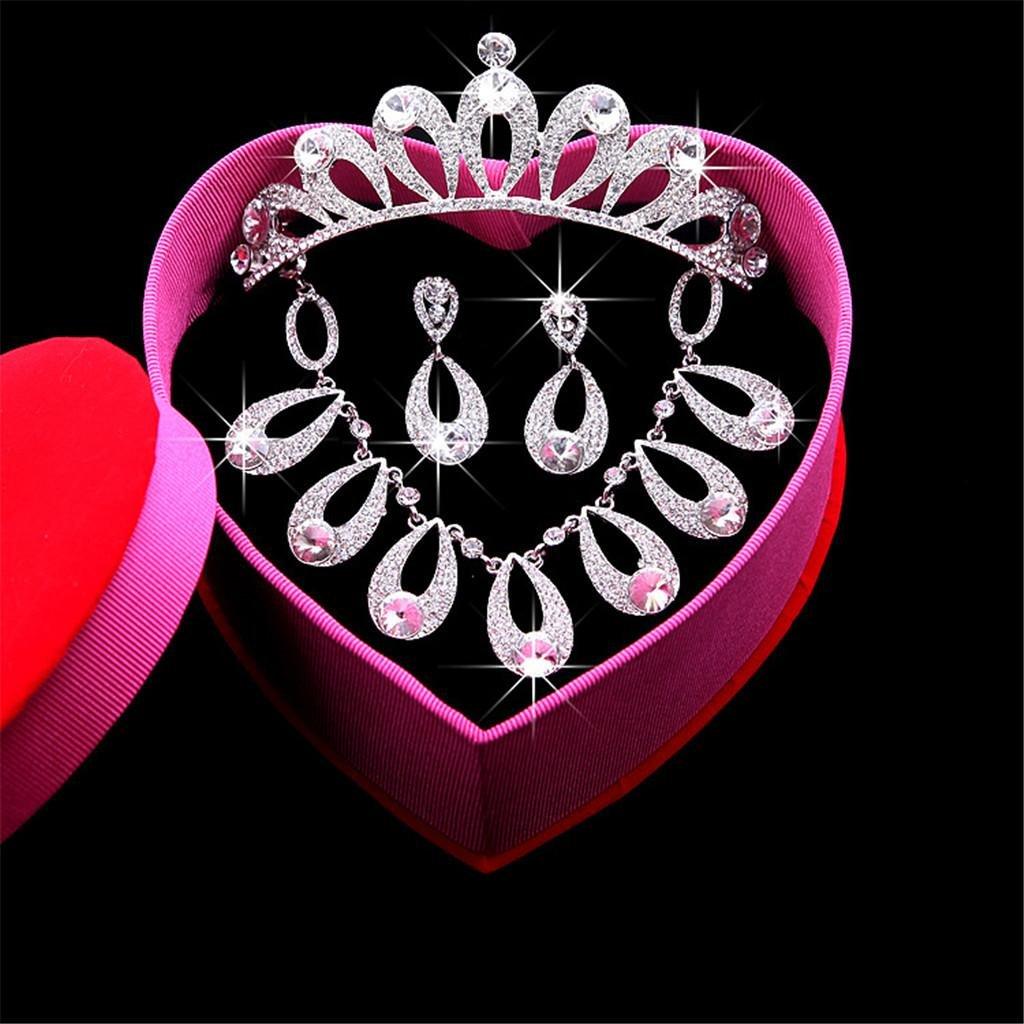 25d985c4b6 AN-LKYIQI Conjunto de joyería Nupcial Collar de Diamantes Diamantes  Diamantes de imitación de Estilo