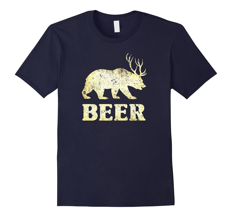 Funny Vintage BearDeerBeer T-shirt-CD