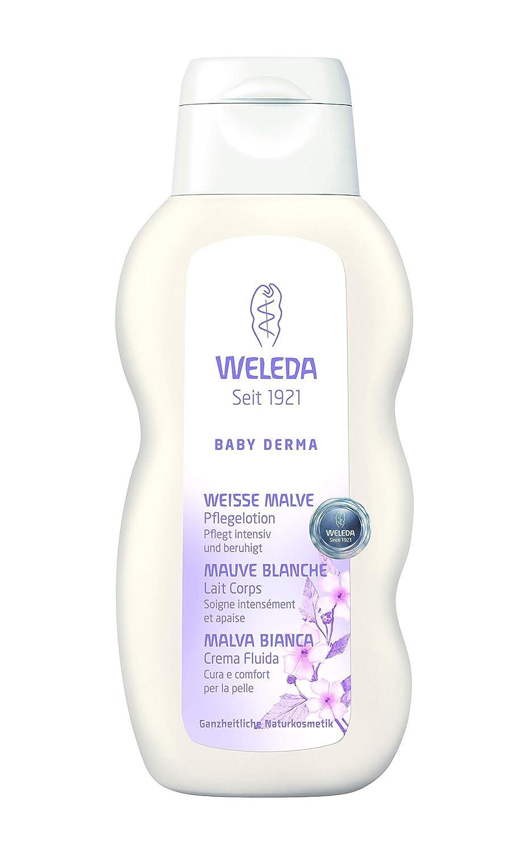 e493a118b8 Weleda Italia Baby Derma Malva Bianca Crema fluida - 200 ml.: Amazon.it