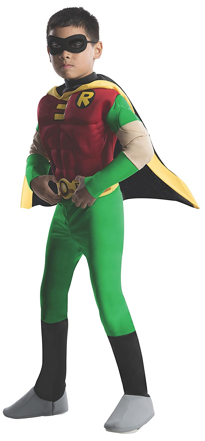 Amazon.com: Rubies DC Comics Teen Titans Deluxe Muscle Chest Robin Costume,  Toddler: Toys & Games - Amazon.com: Rubies DC Comics Teen Titans Deluxe Muscle Chest Robin