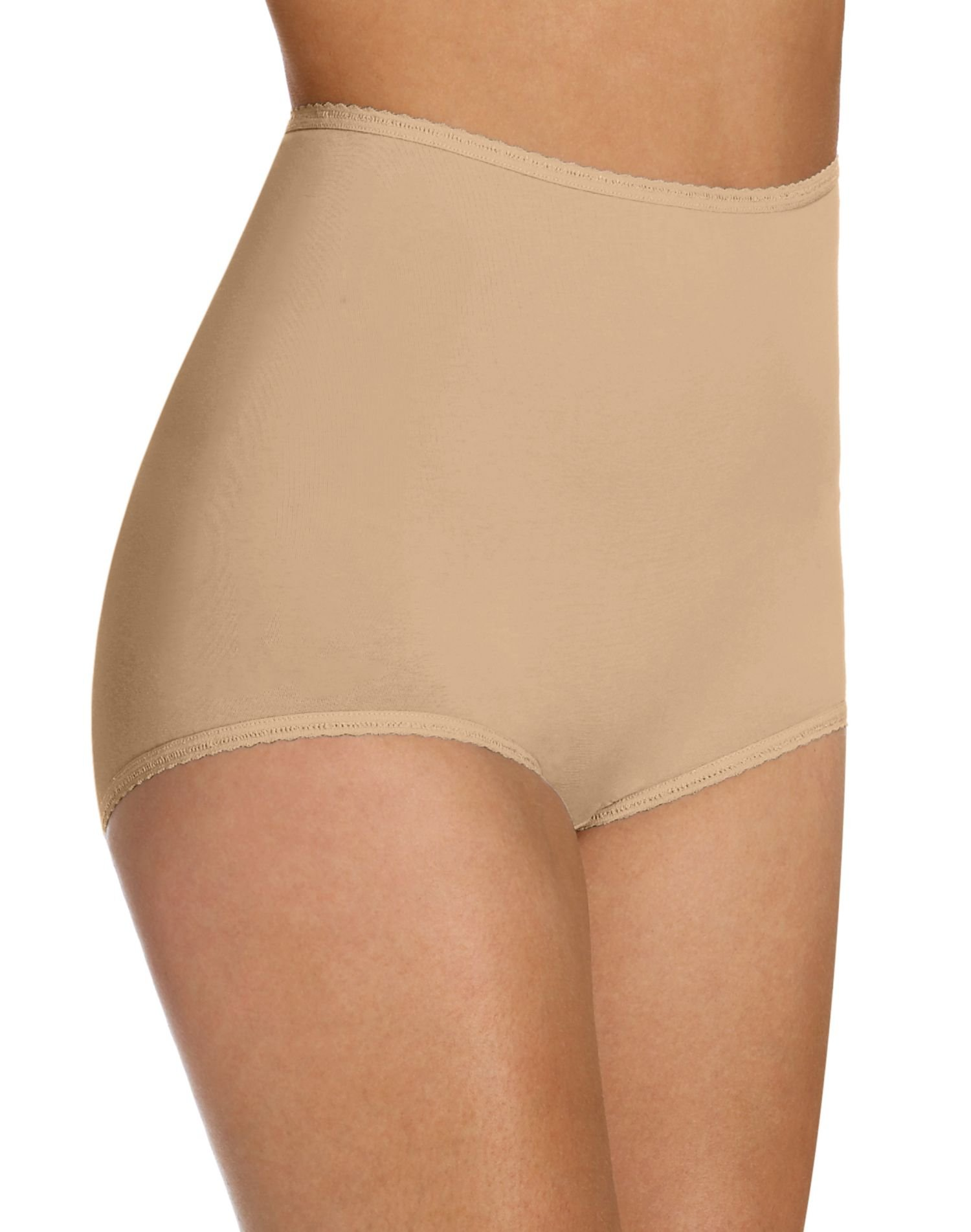 Bali Women`s Set of 6 Cool Cotton Skimp Skamp Brief - Best-Seller! 7, Nude