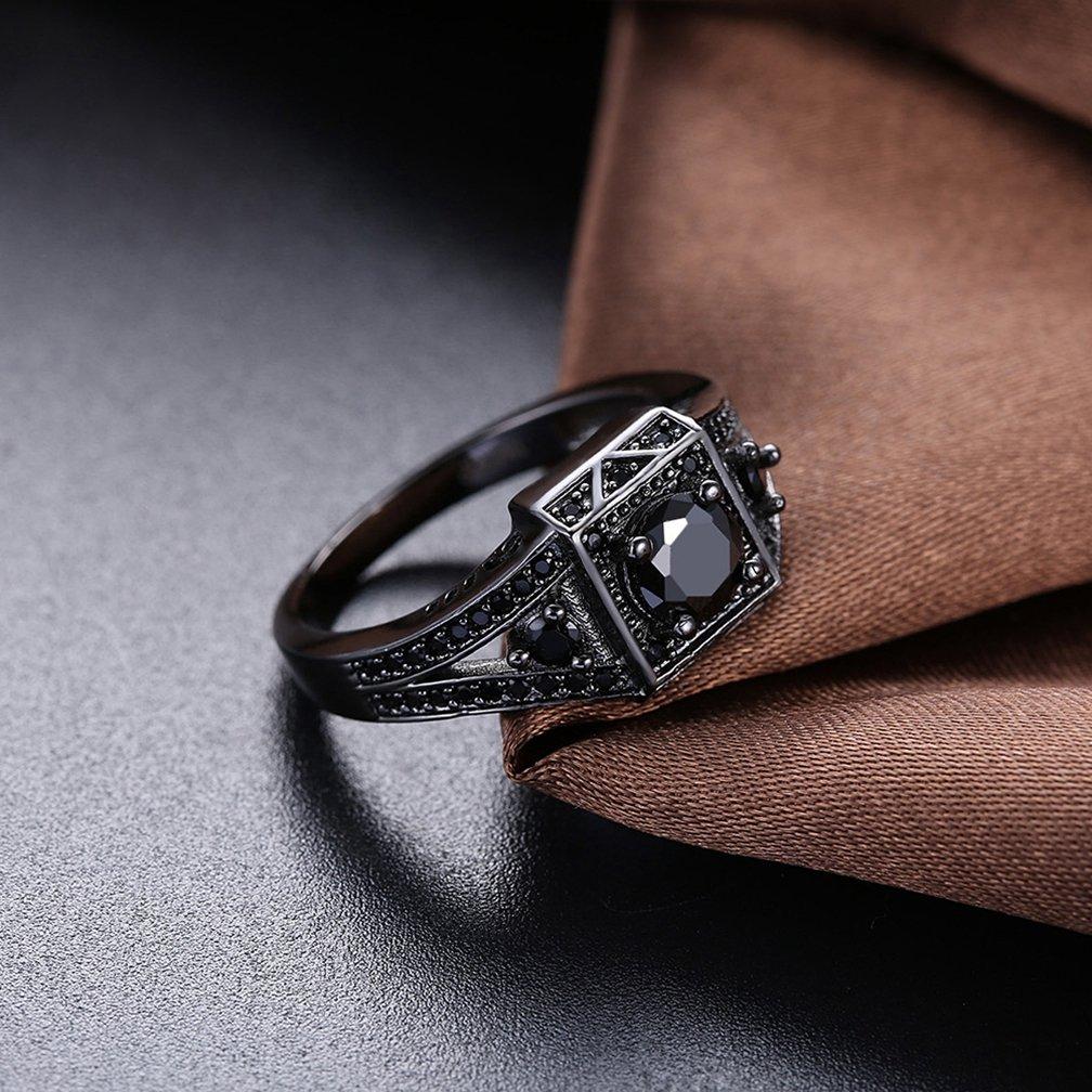 Amazon.com: Mujer Vintage 18 K chapado en oro negro cojín ...