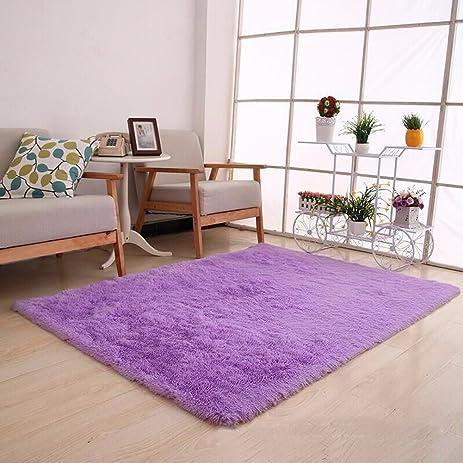 SANMU Super Soft Indoor Modern Bedroom Rugs Fashion Color For Dining Room  Bedroom Silky Smooth Mats