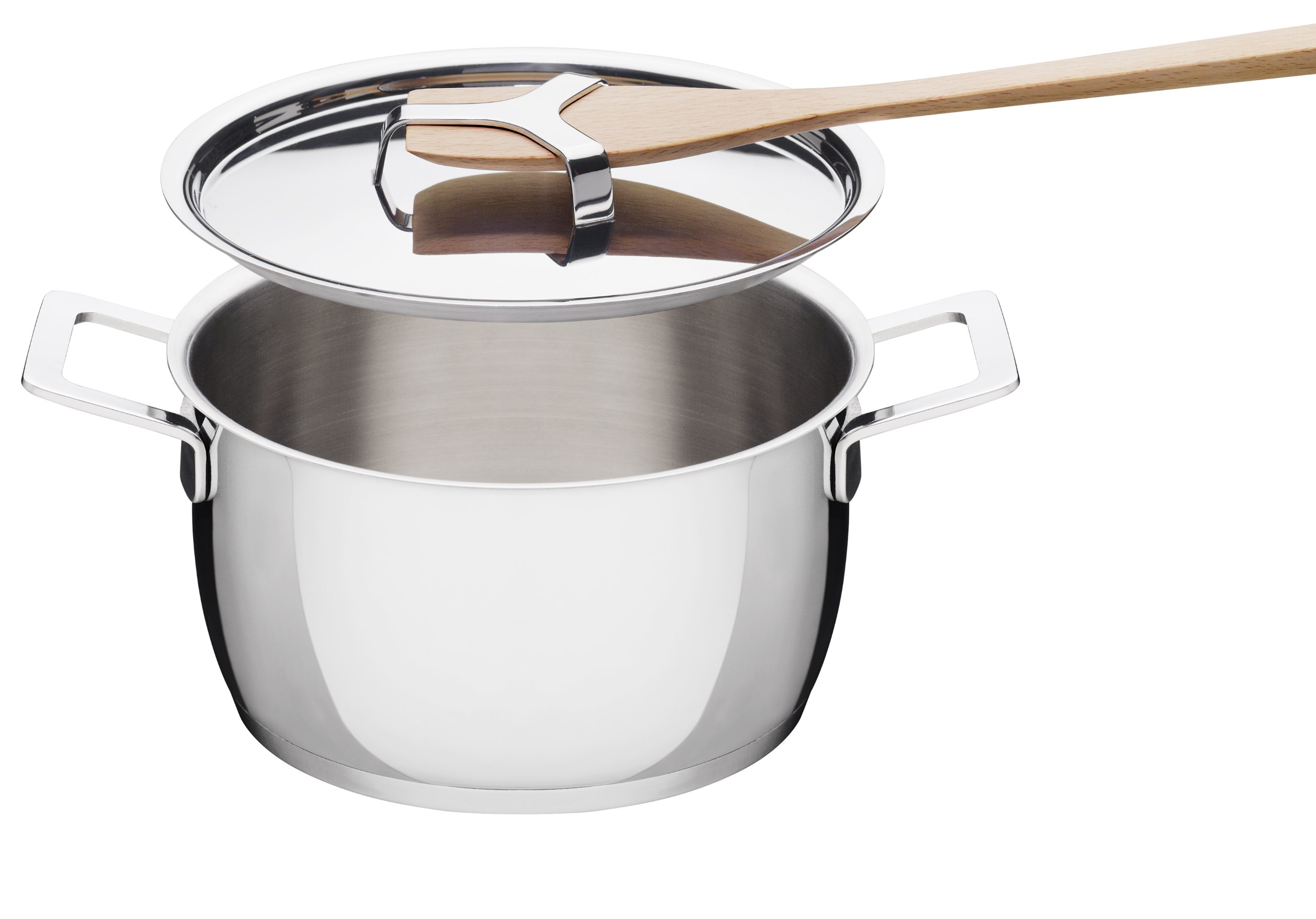 A Di Alessi,AJM101/24 ''POTS & PANS'', Casserole with two handles in 18/10 stainless steel mirror polished,5 qt 27 oz