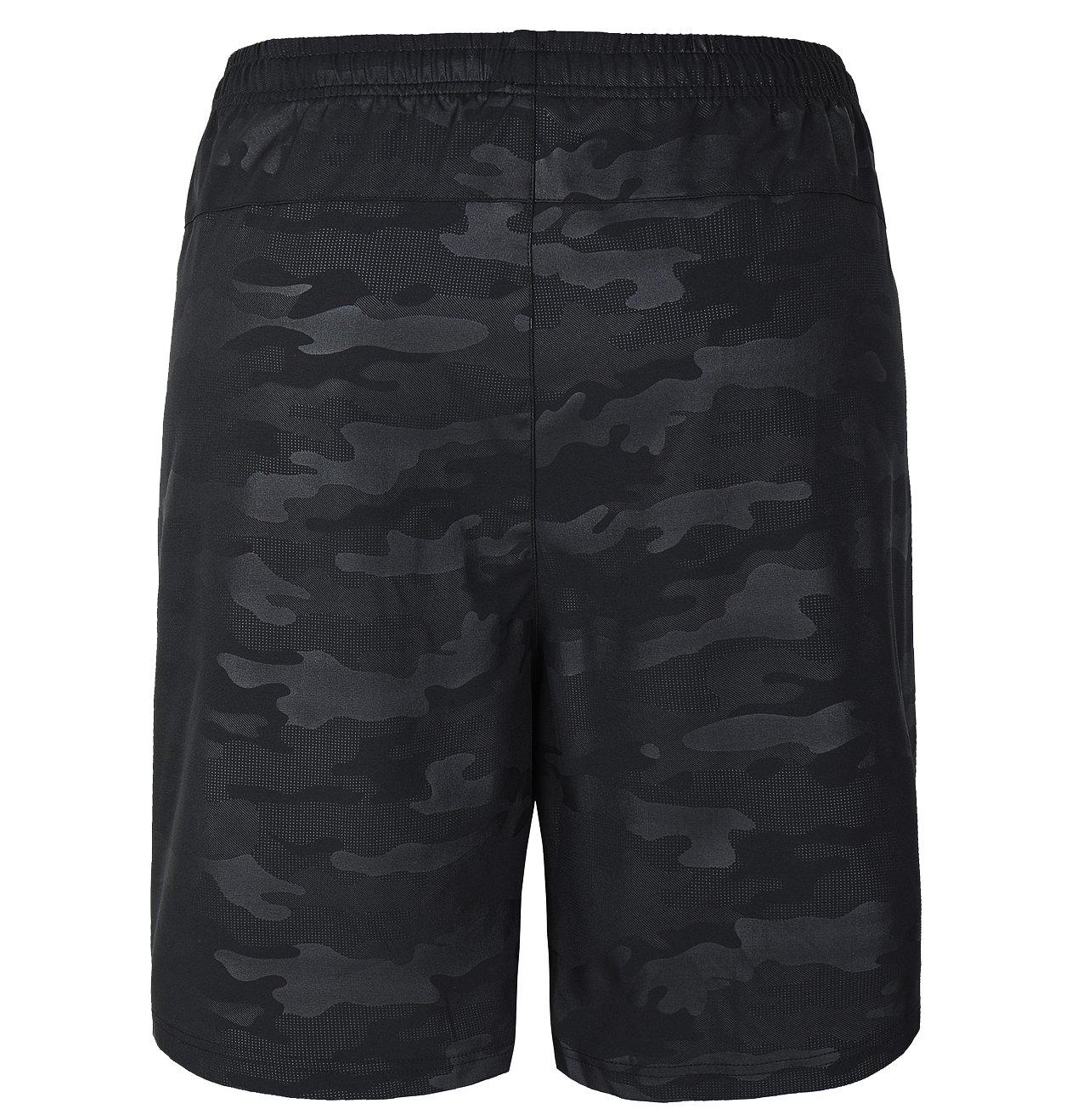 Gititlys Men\'s Shorts with Pockets 95% Terylene and 5% Spandex (Classic Black, Medium)