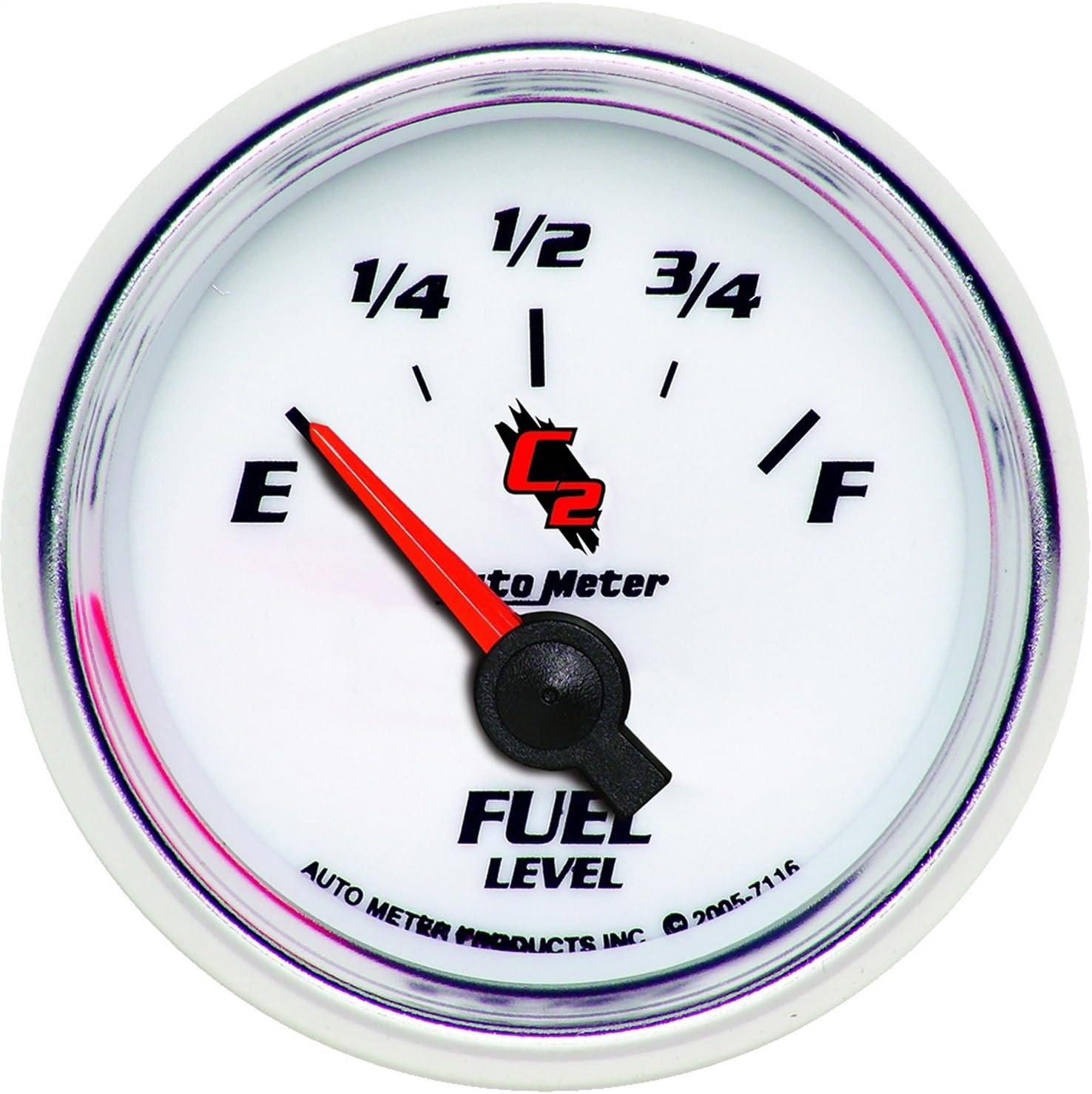 Auto Meter 7127 C2 Short Sweep Electric Oil pressure Gauge