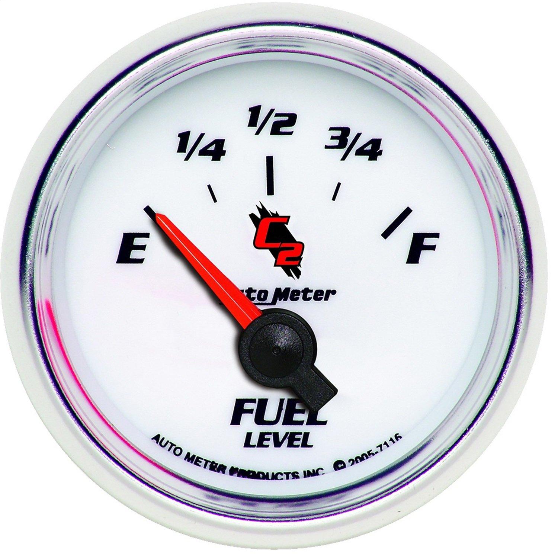 Auto Meter 7116 C2 Short Sweep Electric Fuel Pressure Gauge by AUTO METER