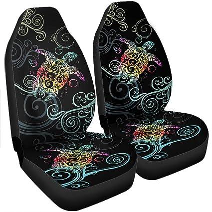 Hawaiian Car Seat Covers >> Amazon Com Vth Global Hawaiian Print Polynesian Turtle
