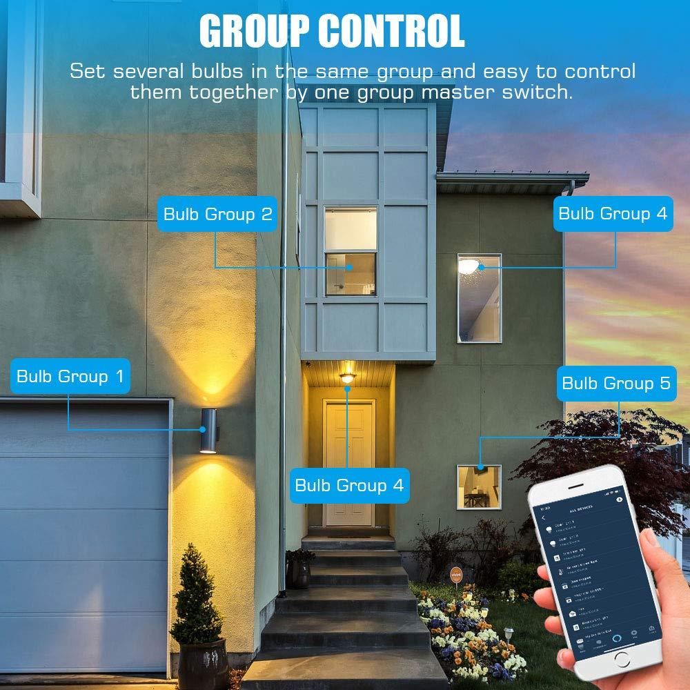 T/él/écommande par APP Alexa Echo Google Home /& IFTTT 9W Smart Lumi/ère RGB Dimmable /à Intensit/é Variable Multicolore MoKo Ampoule Connect/ée WiFi LED Intelligente E27 Contr/ôl Vocal Non Hub Requis