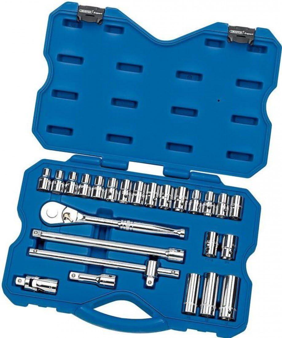 """Combined MM//AF Socket Set 41 Piece Draper 16453 1//2/"""" Sq Dr"""