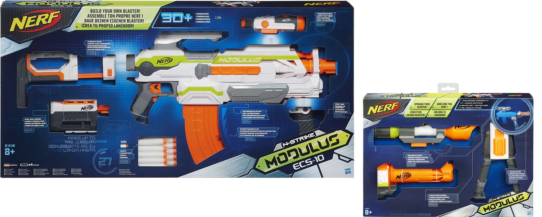 Nerf N-Strike Elite Modulus Sniper Pack: Modulus ECS-10 + Range Kit:  Amazon.co.uk: Toys & Games