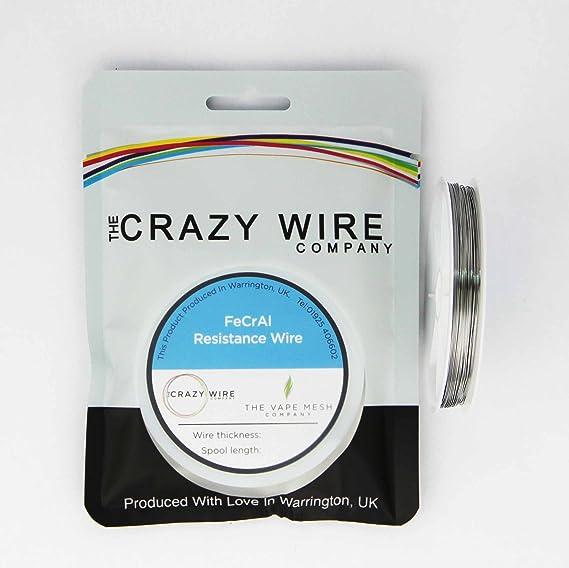 0.42mm (26AWG) - KA1 (FeCrAl A1) Wire - 25 Metre Spool - 9.67 ohms/m ...