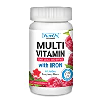 YUM-V's Complete Multivitamin and Multimineral w/ Iron Jellies (Gummies), Berry...
