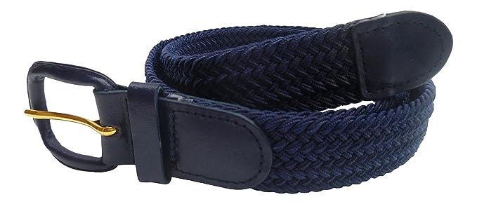 Streeze Cinturón Unisex de correa Trenzada. 6 Tamaños. Elástico Entretejido con Hebilla de Cuero