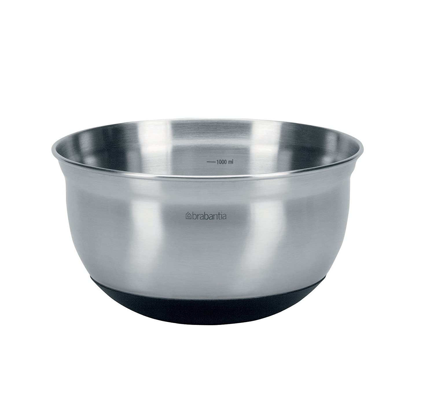Brabantia Mixing Bowl, 1 L - Matt Steel 363825 363825_MattSteel-1l Brabantia Mixing Bowl 1litre Kitchen Accessories
