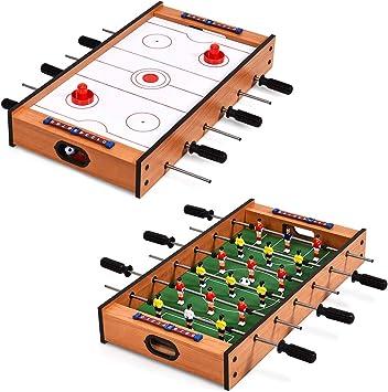 COSTWAY 2 en 1 Mesa Multijuegos Mesa de Futbolín y Hockey Juego de Mesa para Niño Adulto Regalo Fiesta Bar: Amazon.es: Juguetes y juegos