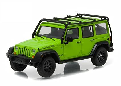 GreenLight 2013 Jeep Wrangler Unlimited Moab Edition Gecko Green With Roof  Rack (1:43