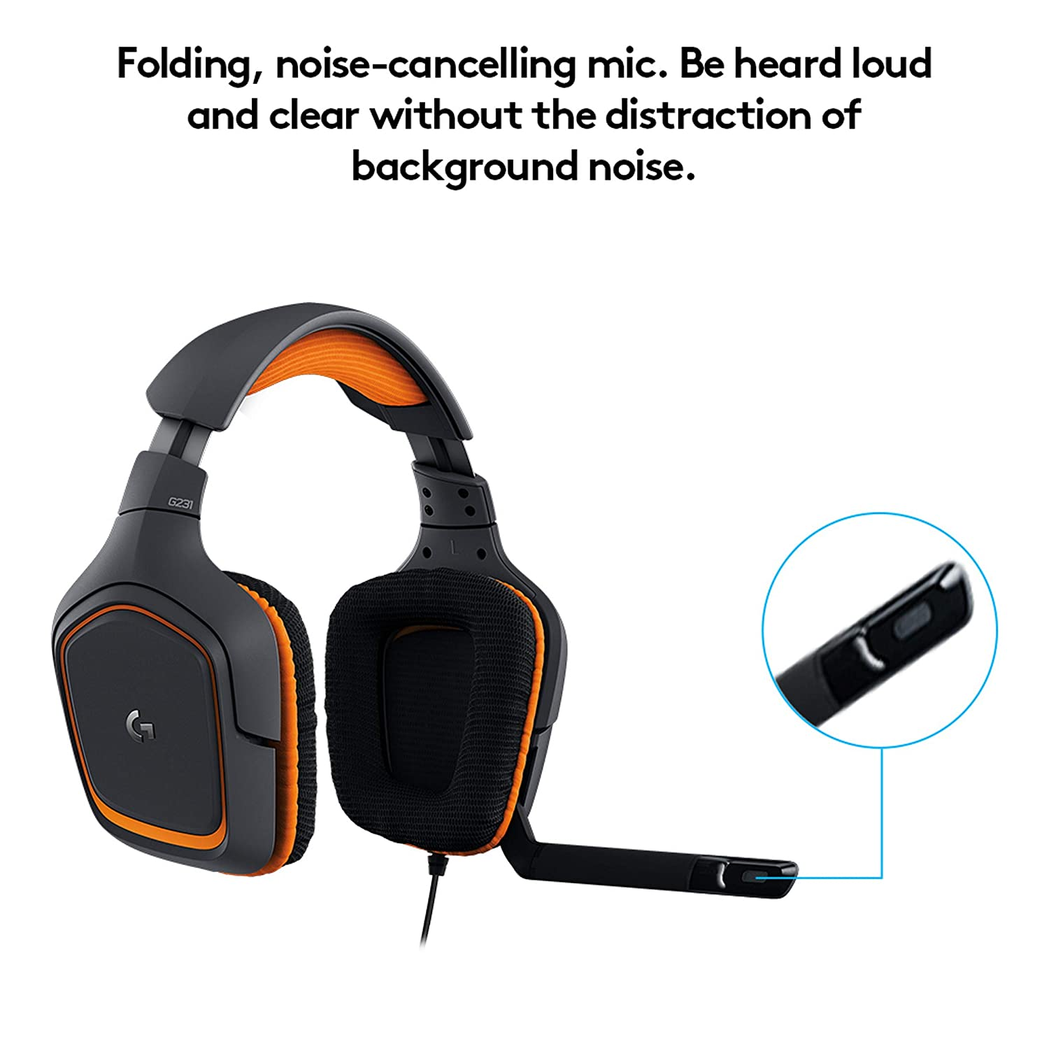 2d240dc19fc Amazon.com: Logitech G231 Prodigy Gaming Headset – Game-Quality Stereo  Sound – Playstion 4, Xbox One, Nintendo Switch Gaming System Compatible –  Folding, ...