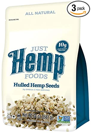 Just Hemp Foods 100% Natural Semillas de vaina de cá ...