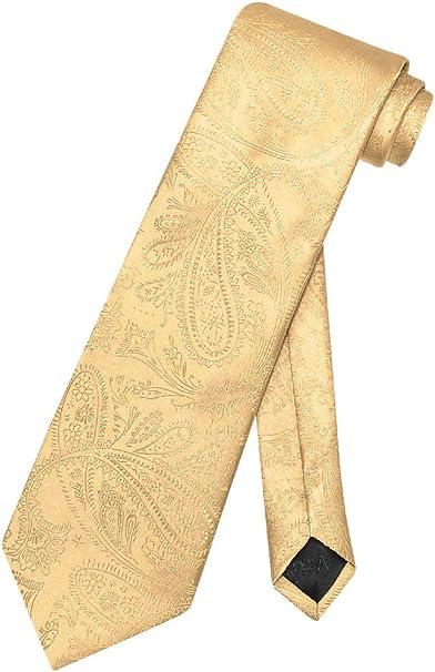 Amazon.com: Napoli Vesuvio Necktie de color dorado diseño de ...
