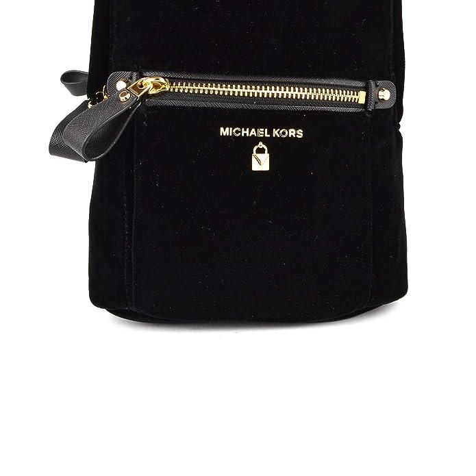 8a97750520 MICHAEL by Michael Kors Kelsey Borsa a tracolla piccola in velluto nero uni  Nero: Amazon.it: Scarpe e borse