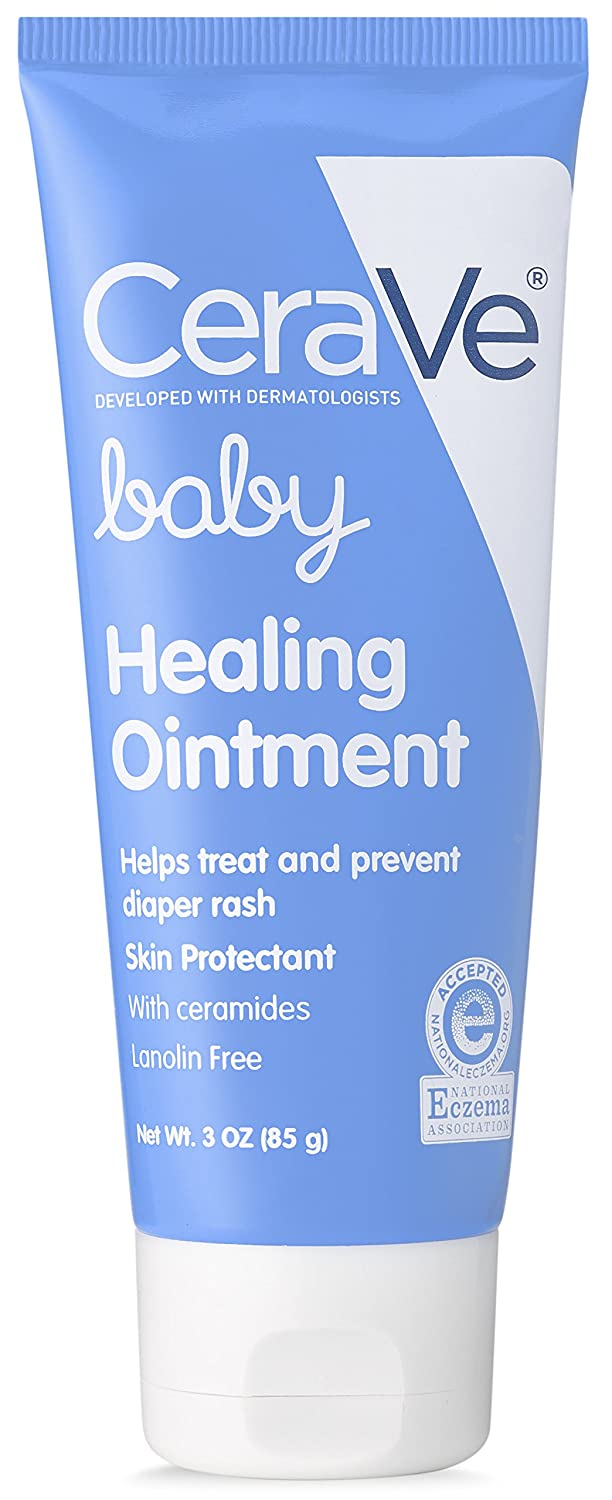 CeraVe Baby Healing Ointment with Ceramides for Treating and Preventing Diaper Rash, 3 oz 301872487037