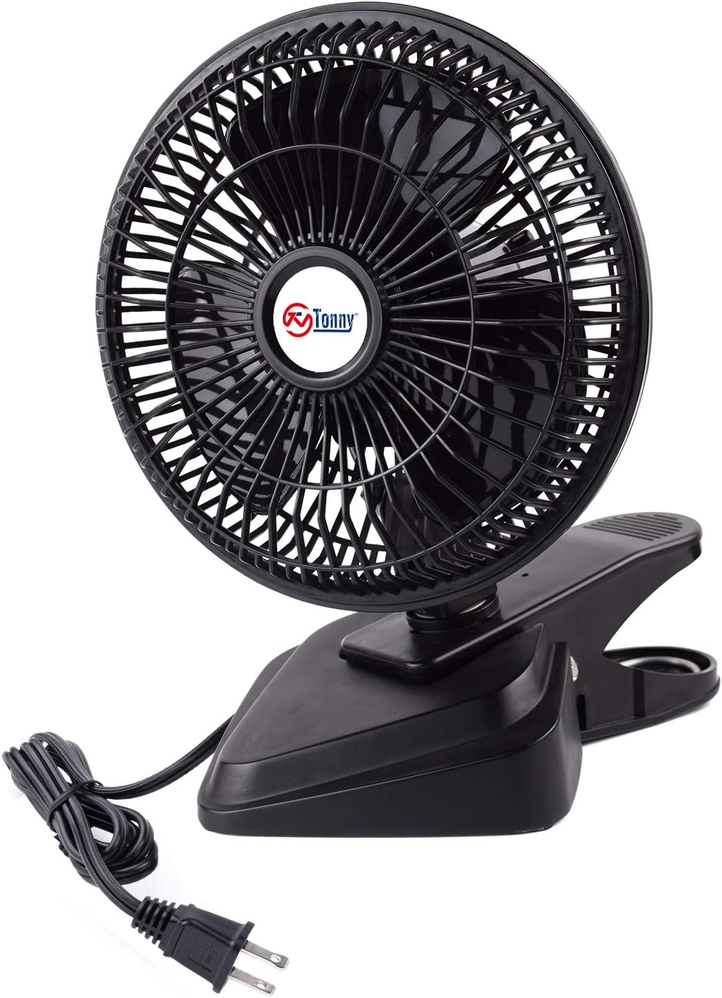 TN TONNY Convertible 6-Inch Desk & Clip Fan Two Quiet Speeds, Household Table Fans with 4 Feet Cord, Ideal For The Home, Office, Dorm, Black