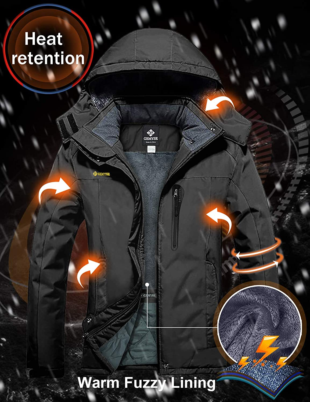 GEMYSE Women/'s Mountain Waterproof Ski Snow Jacket Winter Windproof Rain Jacket