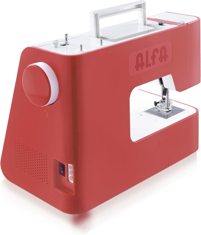 Alfa Next 20 Spring-Maquina de Coser, Rojo Coral, 30 x 19 x 37 cm ...