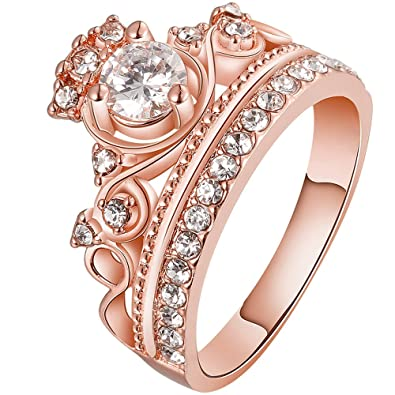 Amazoncom LWLH Jewelry Womens 18K Rose Gold Plated Fashion Cubic