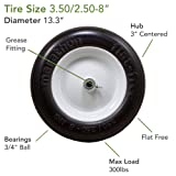"Marathon 3.50/2.50-8"" Flat Free Tire on"