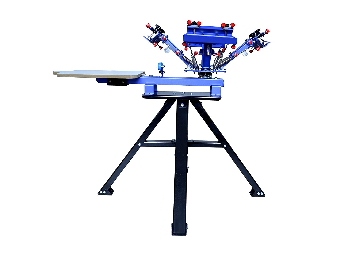 TECHTONGDA Micro-Registration 4 Color 1 Station Screen Printing Machine T-Shirt Printing Press with Stand