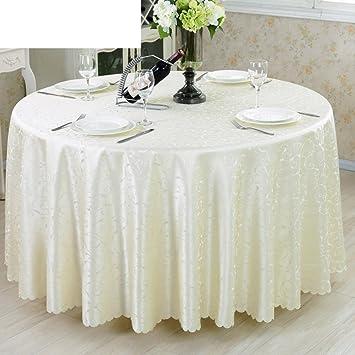 TINDLSHHDPPM Tischtuch Hotels Europäisch Simple Restaurant Restaurant Runde Tischdecke  Wohnzimmer Tischdecke Runde Tischdecke A