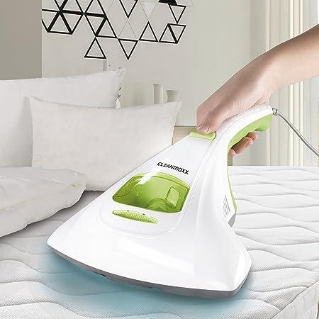 CLEANmaxx Aspirador de mano antiácaros con luz UV-C, 300 vatios ...