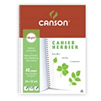 Canson 180g Cahier 24 x 32 cm 48 pages + intercalaires de protection Blanc