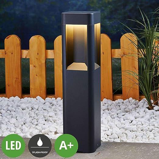 LED Lámpara para exterior Annika (Moderno) en Negro hecho de Aluminio (A+) de Lucande | iluminación de senderos, baliza, iluminación de senderos, farola: Amazon.es: Iluminación
