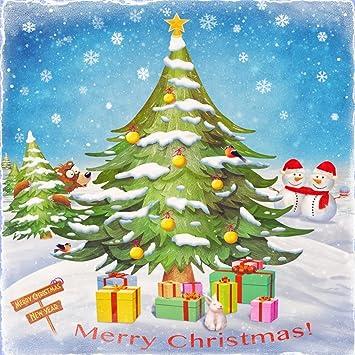 Yongfoto 3x3m Vinyle Toile De Fond Dessin Animé Noël Cadeaux Noël