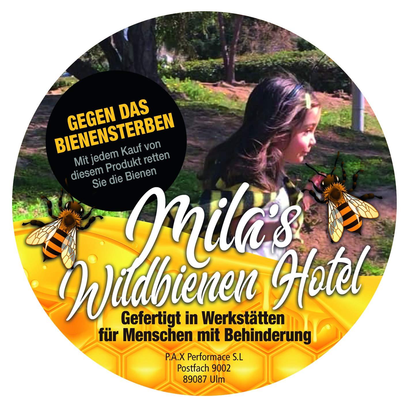 3c871488eb Mila's Wildbienen Hotel Insektenhotel Bienenhotel Insektenwabe, Made in  Germany von Menschen mit Behinderung, ökologischem Karton nachhaltiger ...