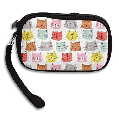 Amazon.com: Bonito color gato avatar monedero monedero ...