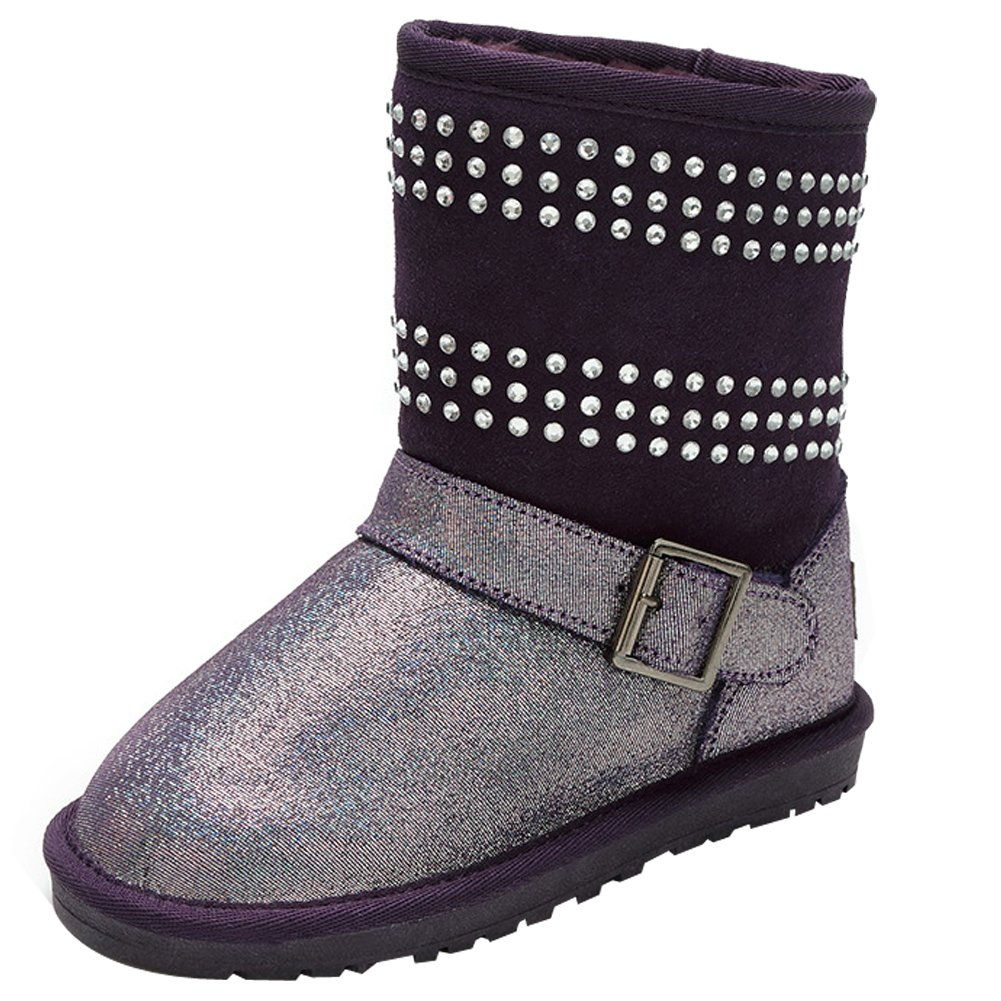 Eclimb Girls Winter Fully Fur Lined Snow Ankle High Boots