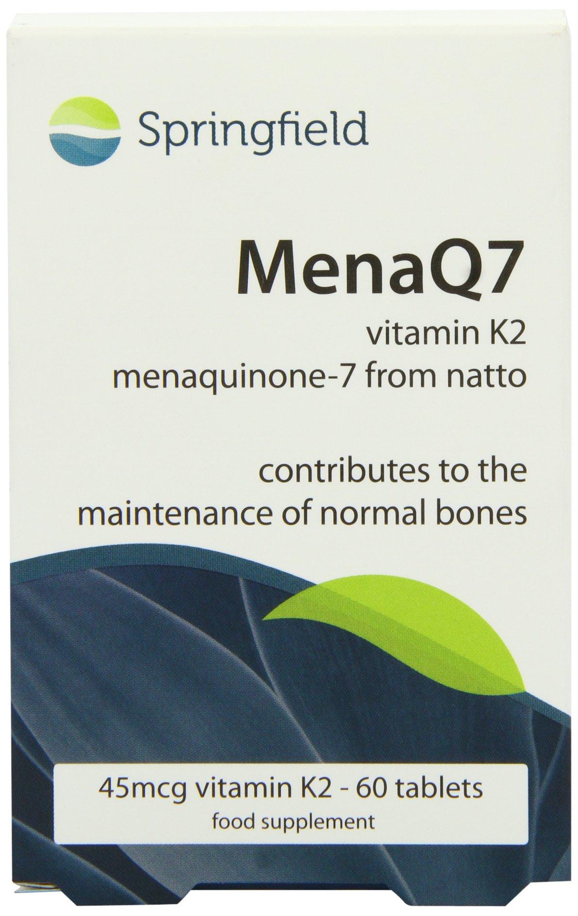 Springfield Nutraceuticals MenaQ7 Vitamin K2 , 60 tabs