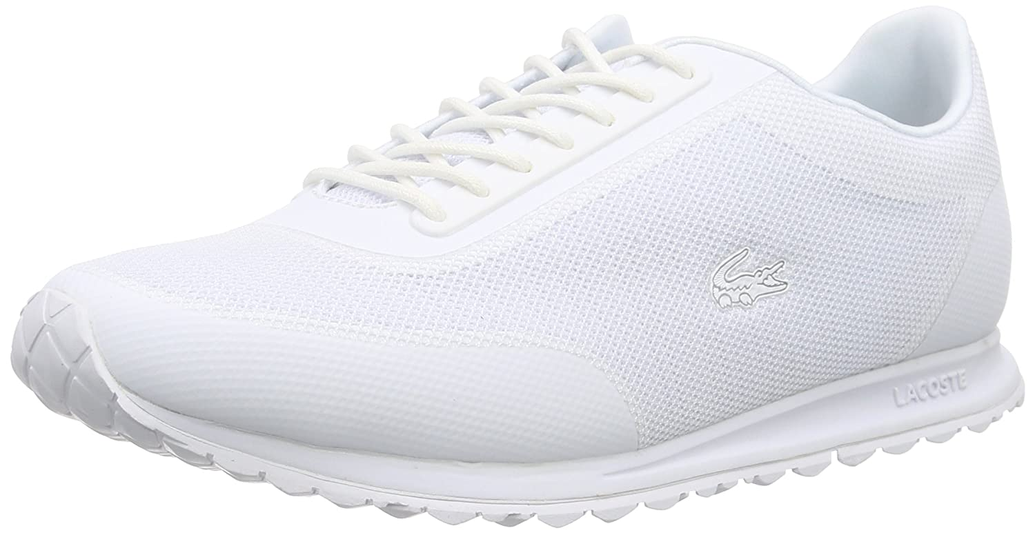Amazon.com | Lacoste Womens White Helaine Runner Sneakers | Fashion Sneakers