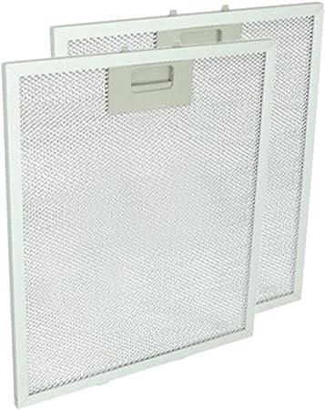 Spares2go - Filtro extractor de rejilla de ventilación para campana de horno Hotpoint-Ariston (2 unidades) Fitment List A: Amazon.es: Hogar