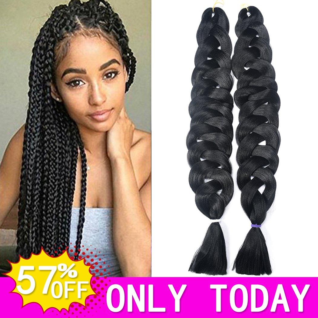 Amazon Hvaxing 82 Inch Ombre Jumbo Braiding Hair Extensions