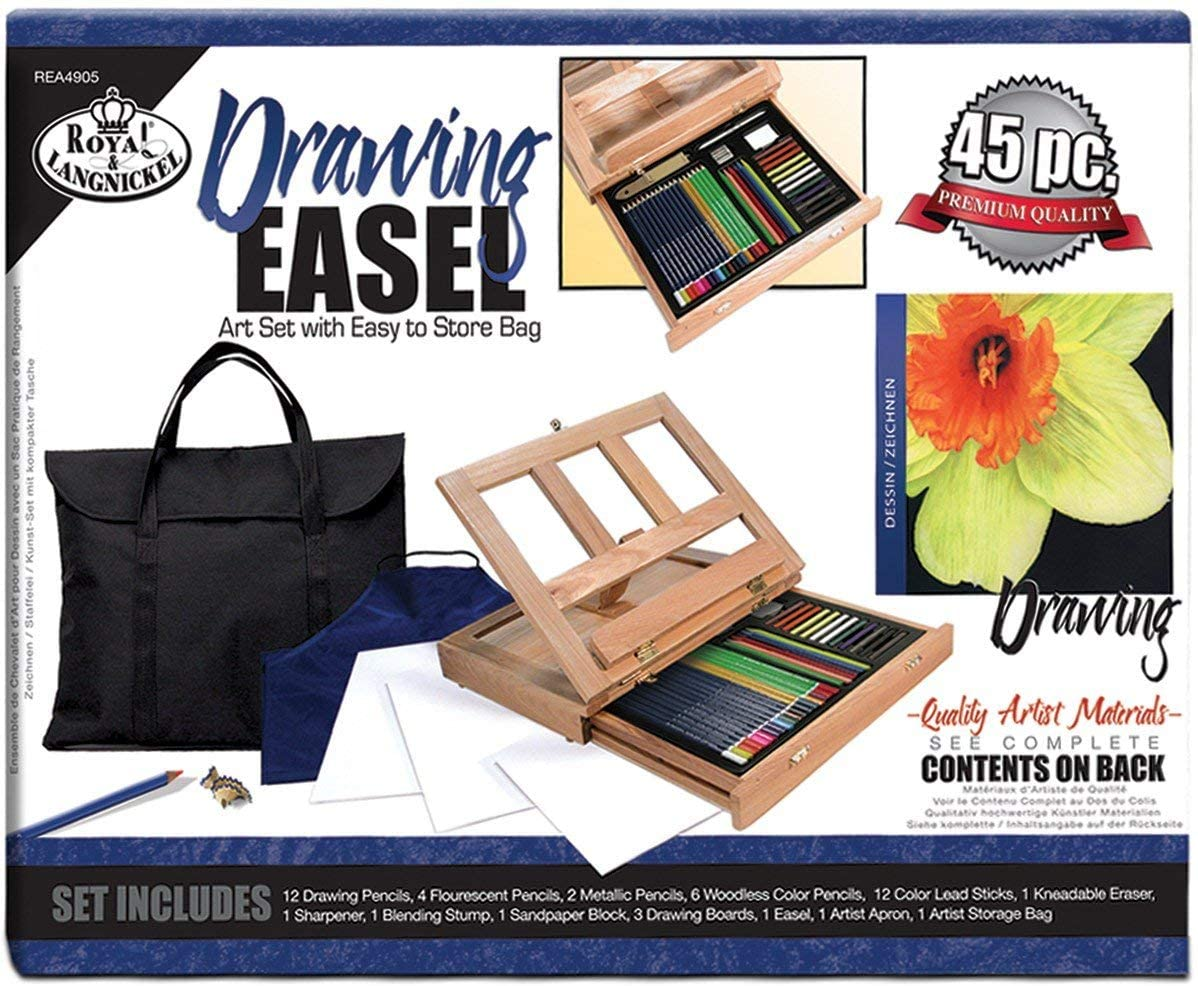 Royal /& Langnickel REA4905 Drawing Easel Art Set with Easy to Store Bag