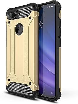 AOBOK Funda Xiaomi Mi 8 Lite, Oro Moda Armadura Híbrida Carcasa ...