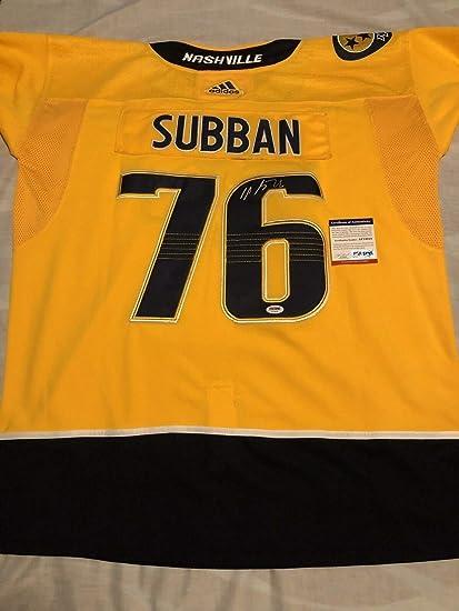 new product 02f95 30657 P K Subban Autographed Signed Nashville Predators Jersey ...