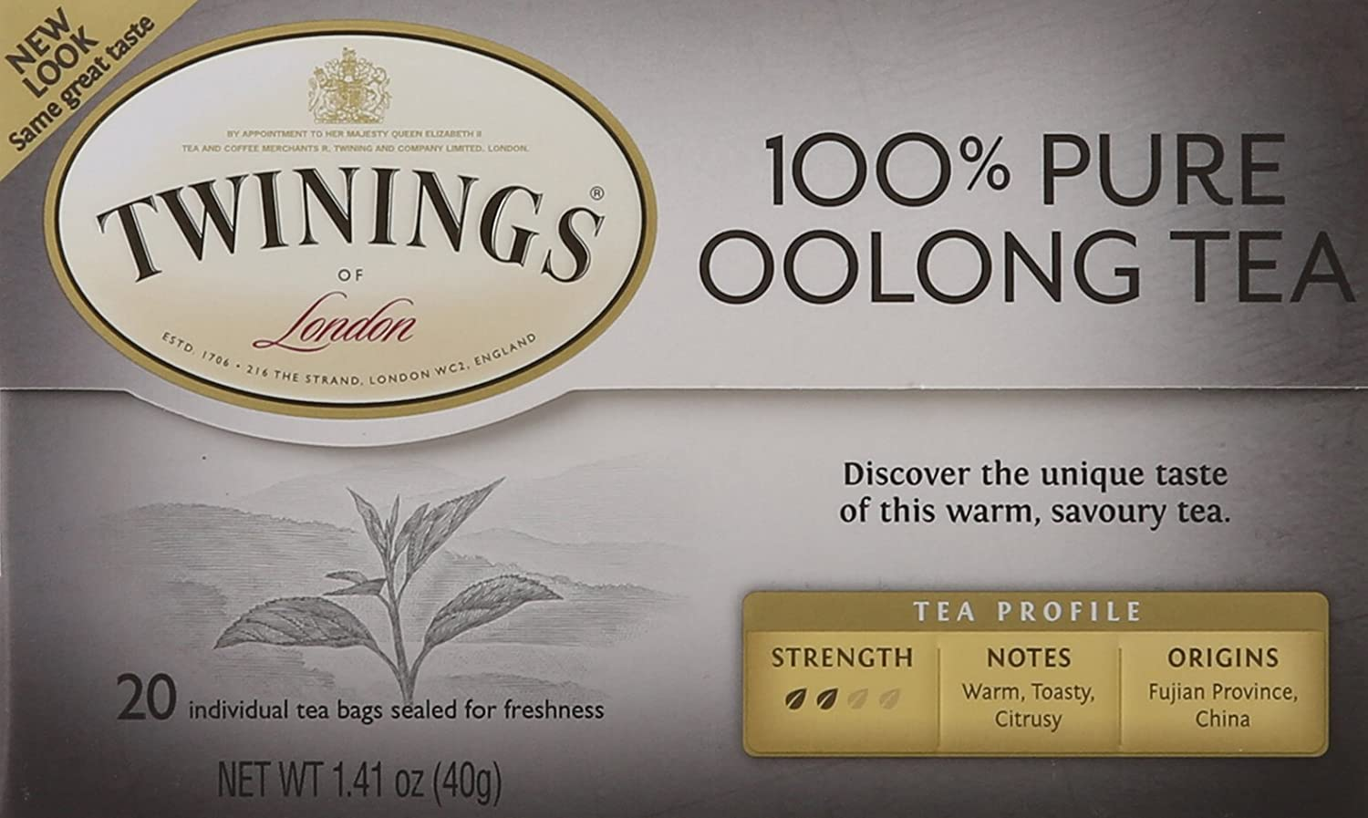 Twinings of London China Oolong Tea Bags, 20 Count