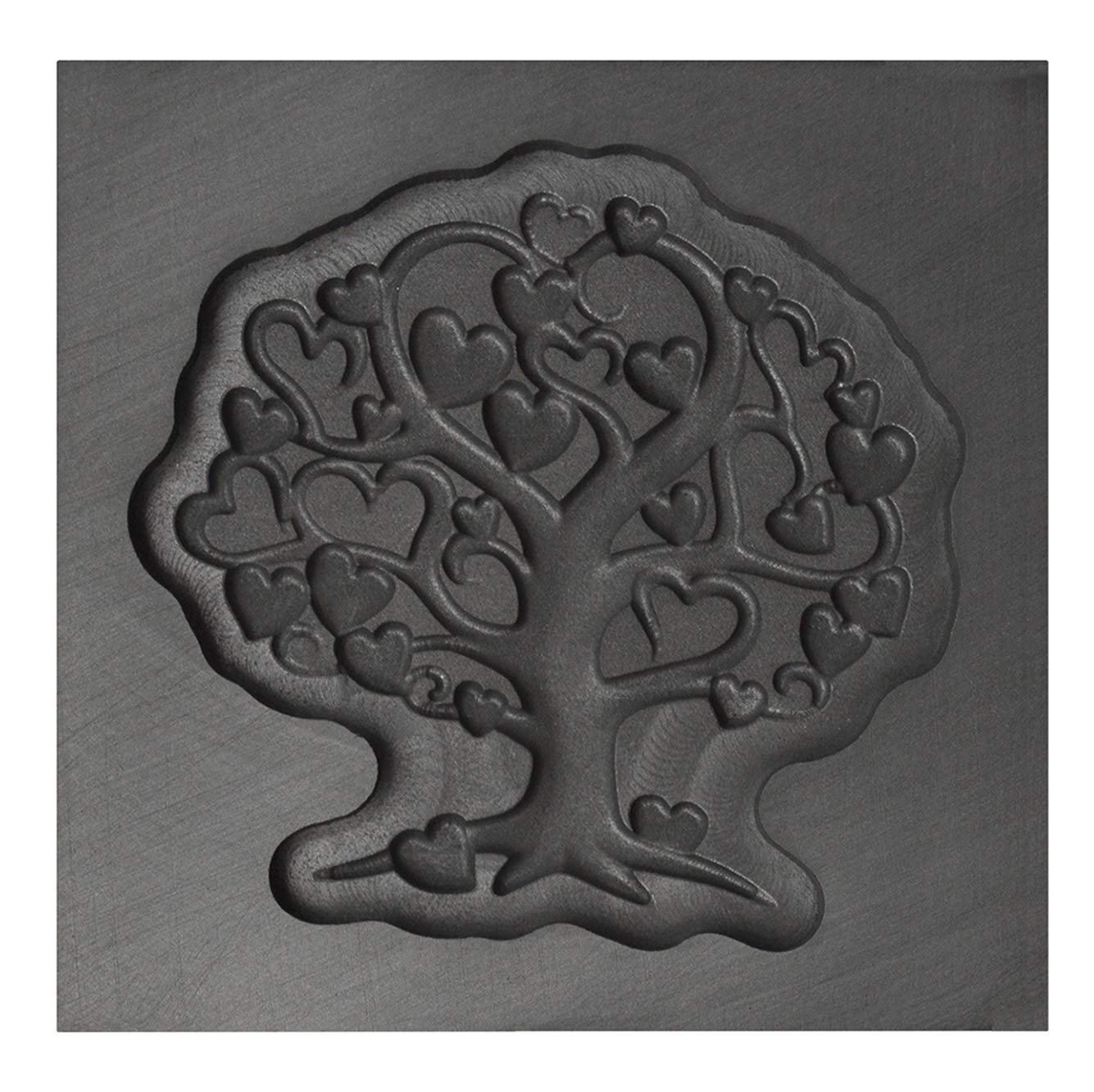 Medium Tree of Love 3D Graphite Ingot Mold for Precious Metal Casting Gold Silver Copper Melting